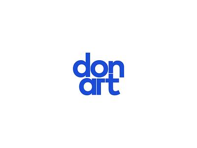 Don'art - Mark typography clean minimal simple logo test mark