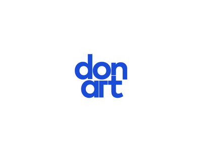 Don'art - Mark typography clean minimal simple logo test mark