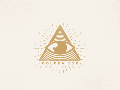 Golden Eye practice graphic shape symbol logo mark triangle