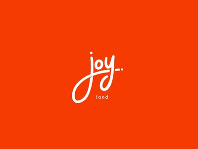 Joy Land clean simple logo handwritten minimal mark