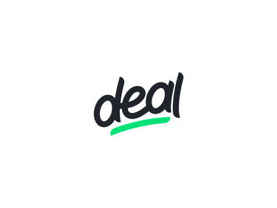 Deal typography minimal simple clean deal brand letter mark handwritten mark logo