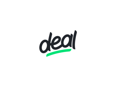Deal typography minimal simple clean deal brand letter mark handwritten mark logo
