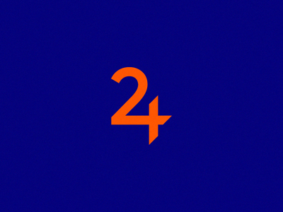 24 orange minmal simple design brand 24 mark logo