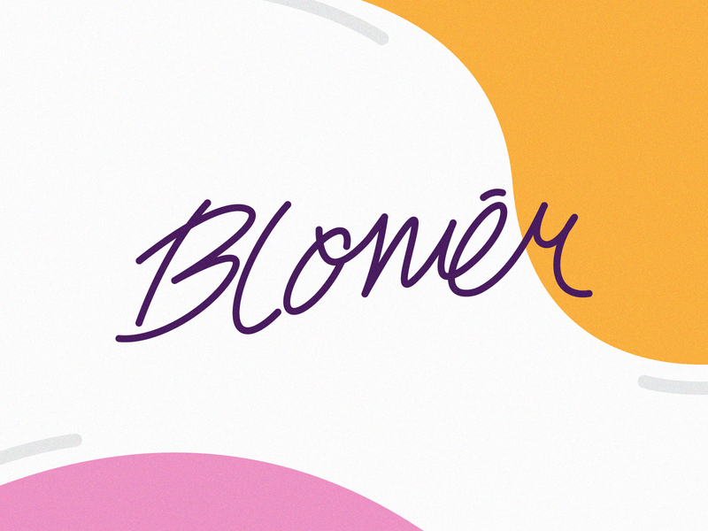 Blomēr - Logo Type gift shop simple colorful script lettermark lettering handlettering type brand logotype logo design logo