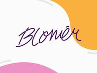 Blomēr - Logo Type gift shop simple colorful script lettermark lettering handlettering type brand logotype logo design logo