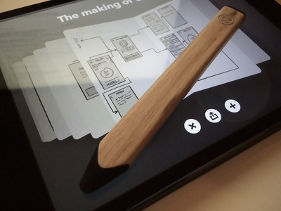 The making of paper pencil sketch ui iphone ios
