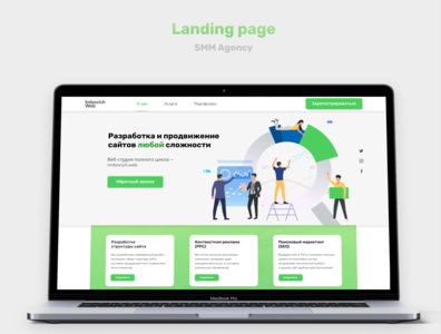 landing page for SMM Agency