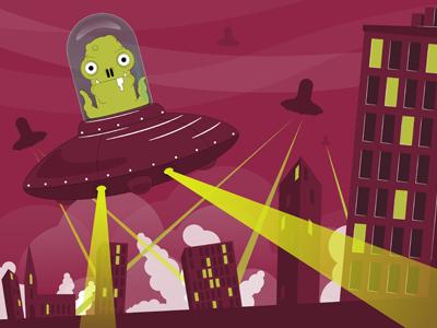 Invasion alien invasion attack ufo wildish flokk