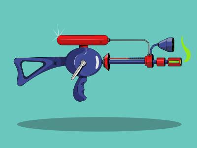 Mars Attacks Ray Gun affinity ray gun laser mars attacks martian retro