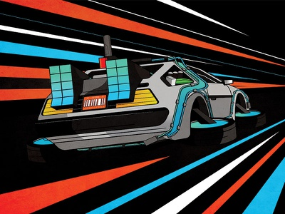 Time Flux affinity designer wildish delorean flux back to the future