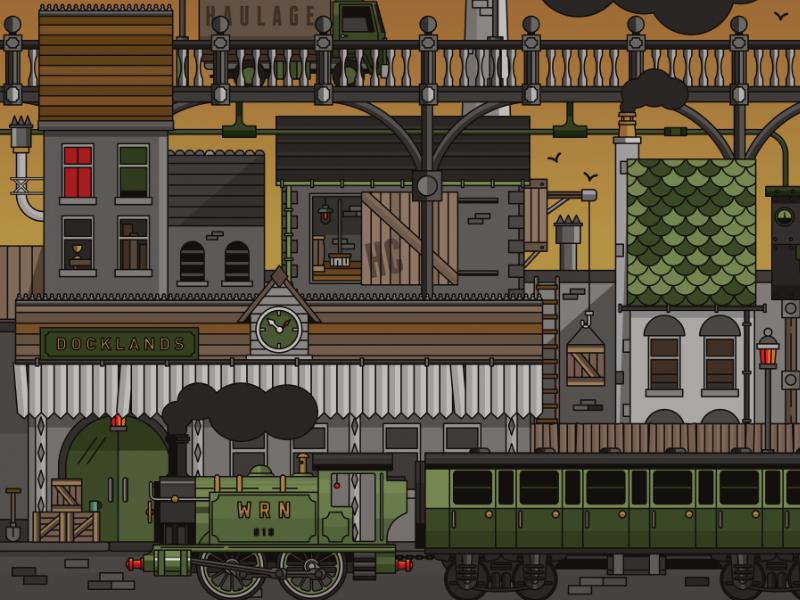 Railyard vector affinity affinitydesigner dock city wildish train rail