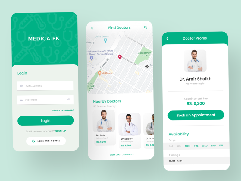 Medical Appointment Booking App design app ui ux appointment booking appointment medical