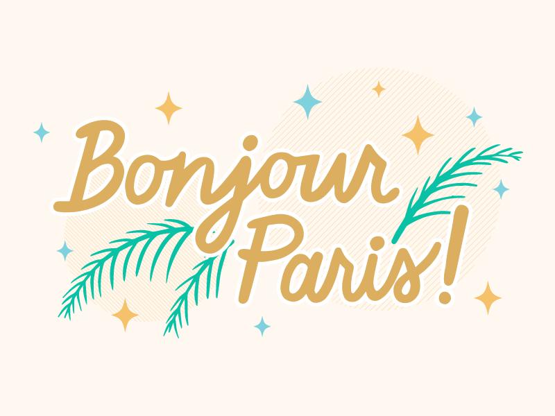 Bonjour Paris! paris bonjour illustration procreate art hand drawn lettering hand drawn typography hand drawn type cursive ipad lettering typography lettering hand lettering