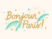 Bonjour Paris! paris bonjour illustration procreate art hand drawn lettering hand drawn typography hand drawn type cursive ipad lettering typography lettering hand lettering