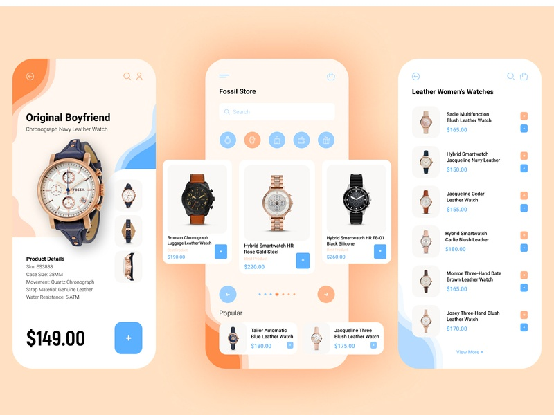 Watch Store App figma ui visual design app design