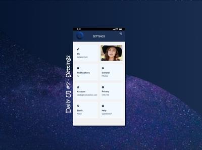 Daily UI #7 - Settings