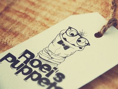 Roeis Puppets Logo hipster illustration puppets logo