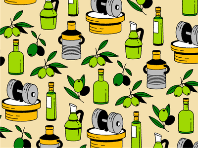 Olive Oil Illustrations mediterranean portugal spain italy crusher vase pot icondesign icon illustration plant olives glass tree fruit bottle oil olive