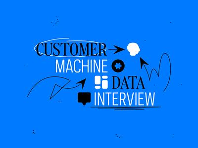 The Customer Machine ID logotype logo icon google asana substack newsletter newspaper work job vehicle pattern art graphic type typography smile illustration machine customer