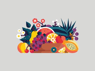 Italianism flower grapes pear melon pineapple apple vegetables fruit italia italianism color