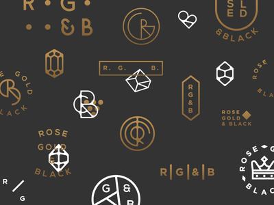 Rose Gold Logo Designs Themes Templates And Downloadable Graphic Elements On Dribbble