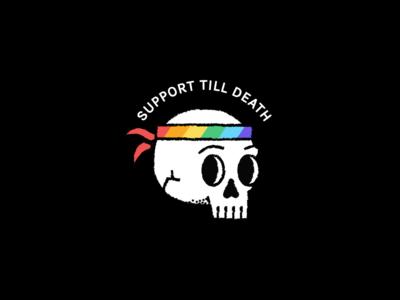 Stockholm pride flag rainbow stockholm sweden icon doodle skull lgbt pride love