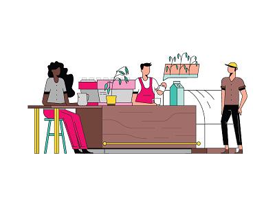 Fast Company Oatly coffee cafe bartender bar character illustration fastcompany oat