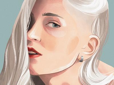 Portrait procreate texture digitalart portrait character illustration