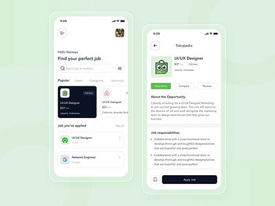 Job Finder App ios mobile app design job uiux ui design ux ui figma job board job finder app design app