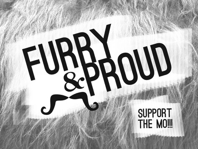 Furry Proud random movember hair on type