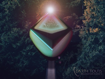 Earth Tours lens flare alien comp c4d