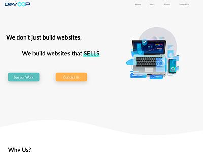 DevOOP Website Design illustration web design and development sell your art design webdesig ui ux web uidesign web design