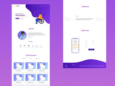 Portfolio Website Design design minimal flat webdesig web ui ux web design and development uidesign web design