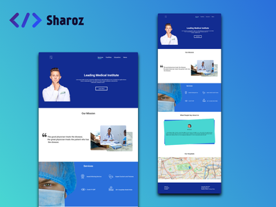 Medical UI Design website ui ux web minimal web design and development web design design uidesign