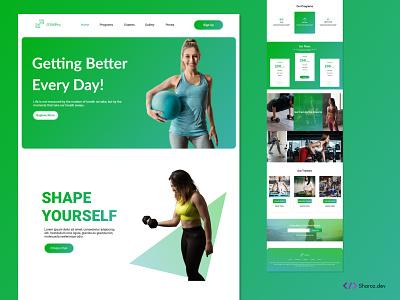 GYMPro(fitness website) train fitness gym uidesign web design and development web design web design
