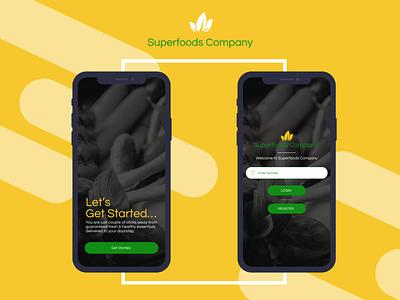 Superfoods Company application icon ux branding illustration logo design app design adobe xd ux design
