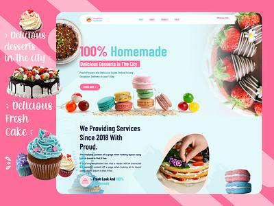 Anytime Fresh Cake html web icon typography branding application logo photoshop adobe xd ux design