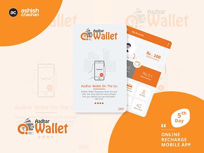 Online Recharge app design html illustration typography app design application logo adobe xd photoshop ux design