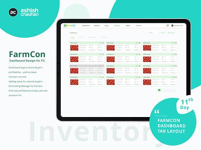 Farmcon Dashboard logo adobe xd app template tablet app design branding application design photoshop ux design