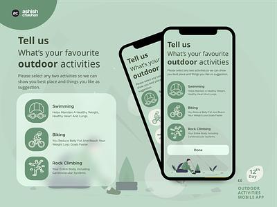 Outdoor Activities icon vector health app healthcare mental health health activism outdoor icon set icons illustration design application ux design