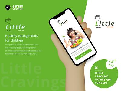Little Cravings application ux design vector ui illustration design adobe xd branding logo graphic design
