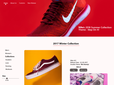 Daily UI Challenge - My concept of  Nike's blog