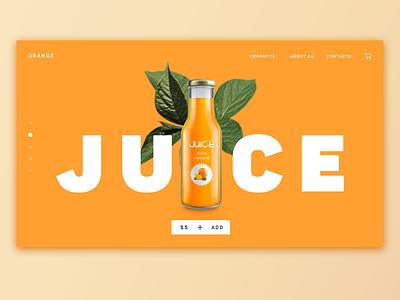 Orange juice concept typography oranges concept orange orange juice juice web design webdesign ui ux minsk photoshop design belarus