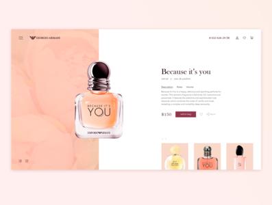 Giorgio Armani concept card parfum