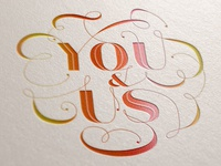 You And Us: Foiled Hand Type
