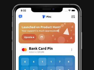 Pinc on Product Hunt banner product hunt app ios