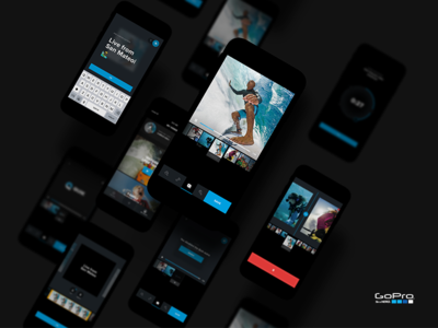 Quik by GoPro® dark mobile ui ios editing video gopro quik