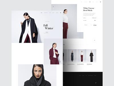 Bouguessa ux dubai ux fashion ui i luxury grid layout white black minimal webdesign