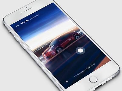 Toyota - Experience automotive ios ux animation slow motion car dashboard app video custom configurator toyota car webgl mobile experience interactive ui