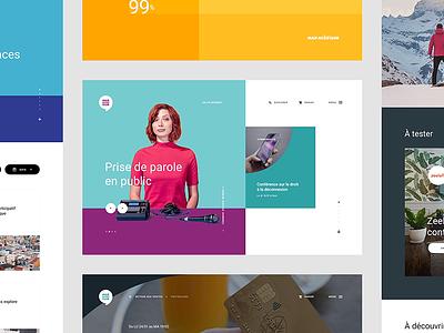Maif Social Club minimal insurance material colorful interactive webdesign flat uikit ux ui